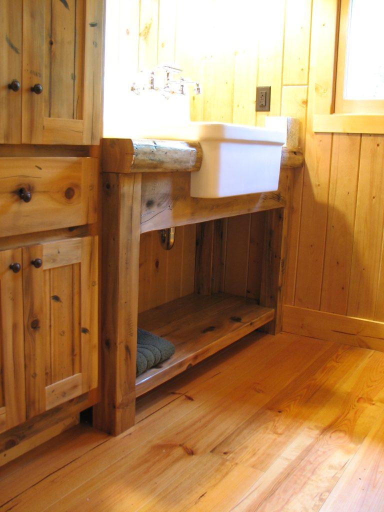 Custom built timber vanity