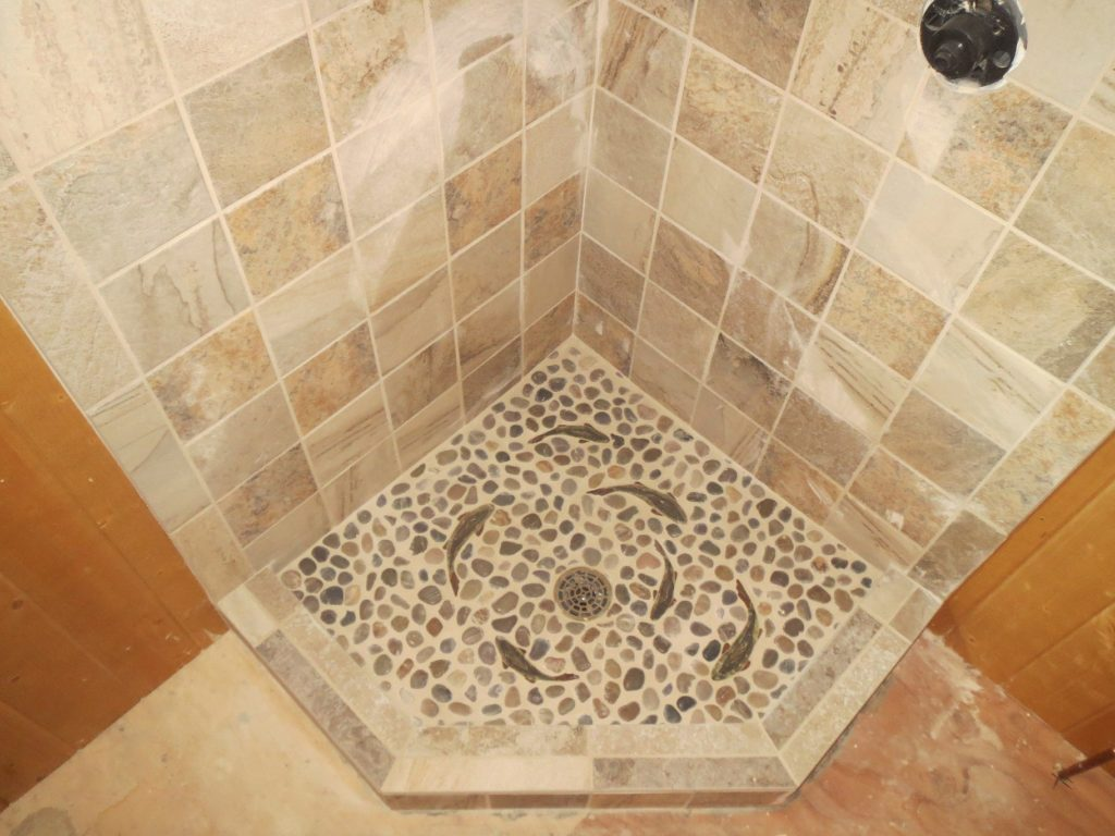 Fishy tiles in shower