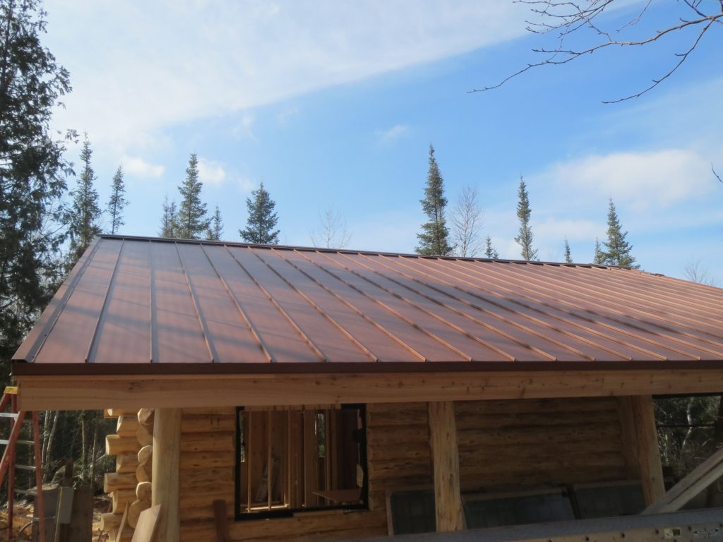 Copper colored Standing seam roof