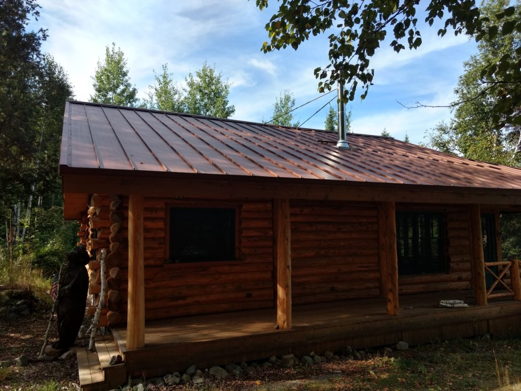 Copper colored stainding seam metal roof