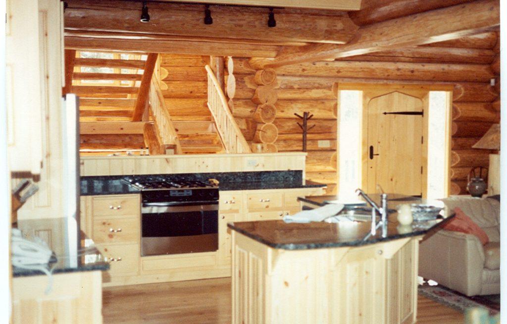 Kitchen, pine and granite