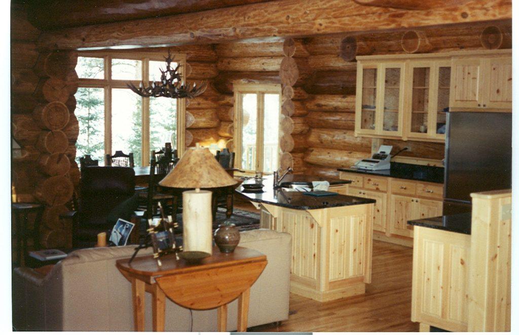 Kitchen in log home