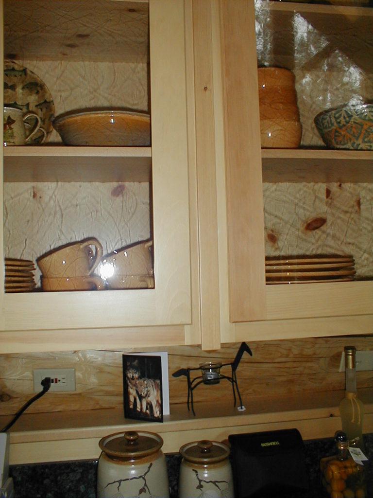 Custom pine cabinet detail