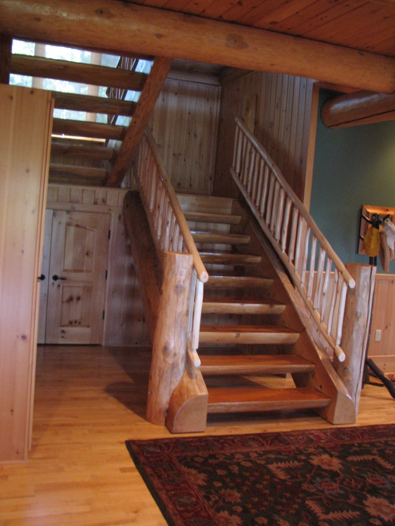 Stairs in basement