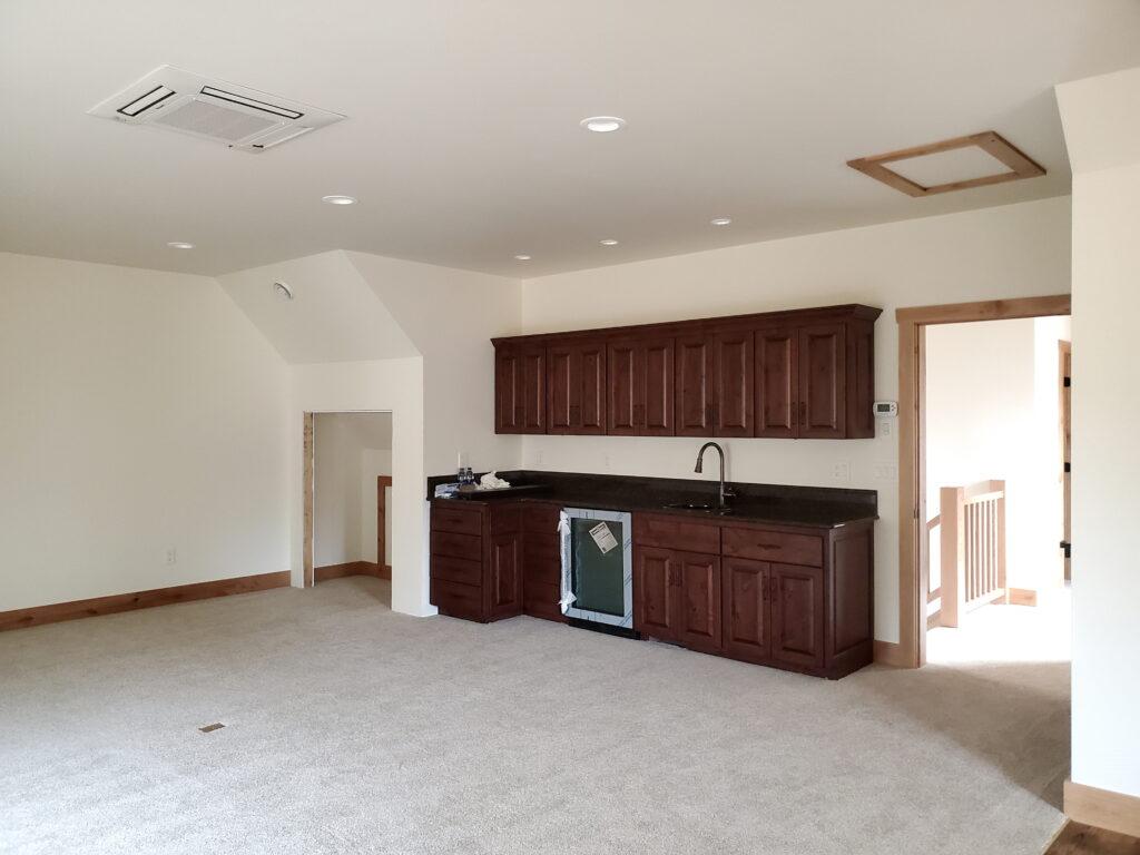 Bonus room area, custom home Husiman Concepts