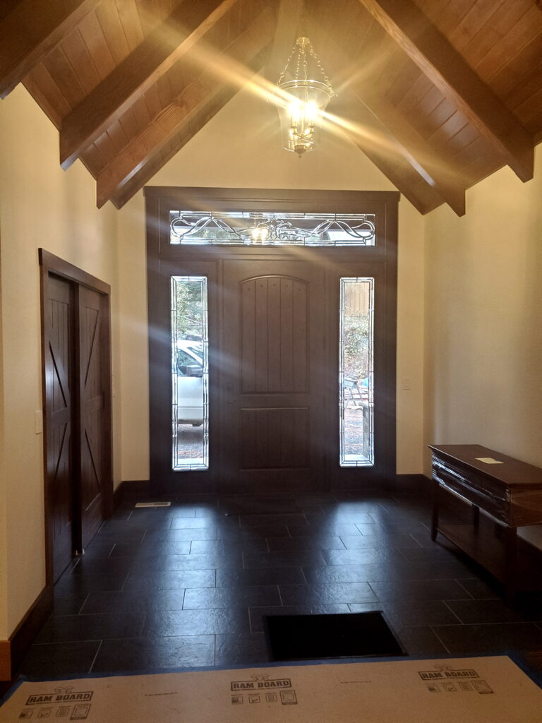 Entry foyer area on Custom Home by Huisman Concepts