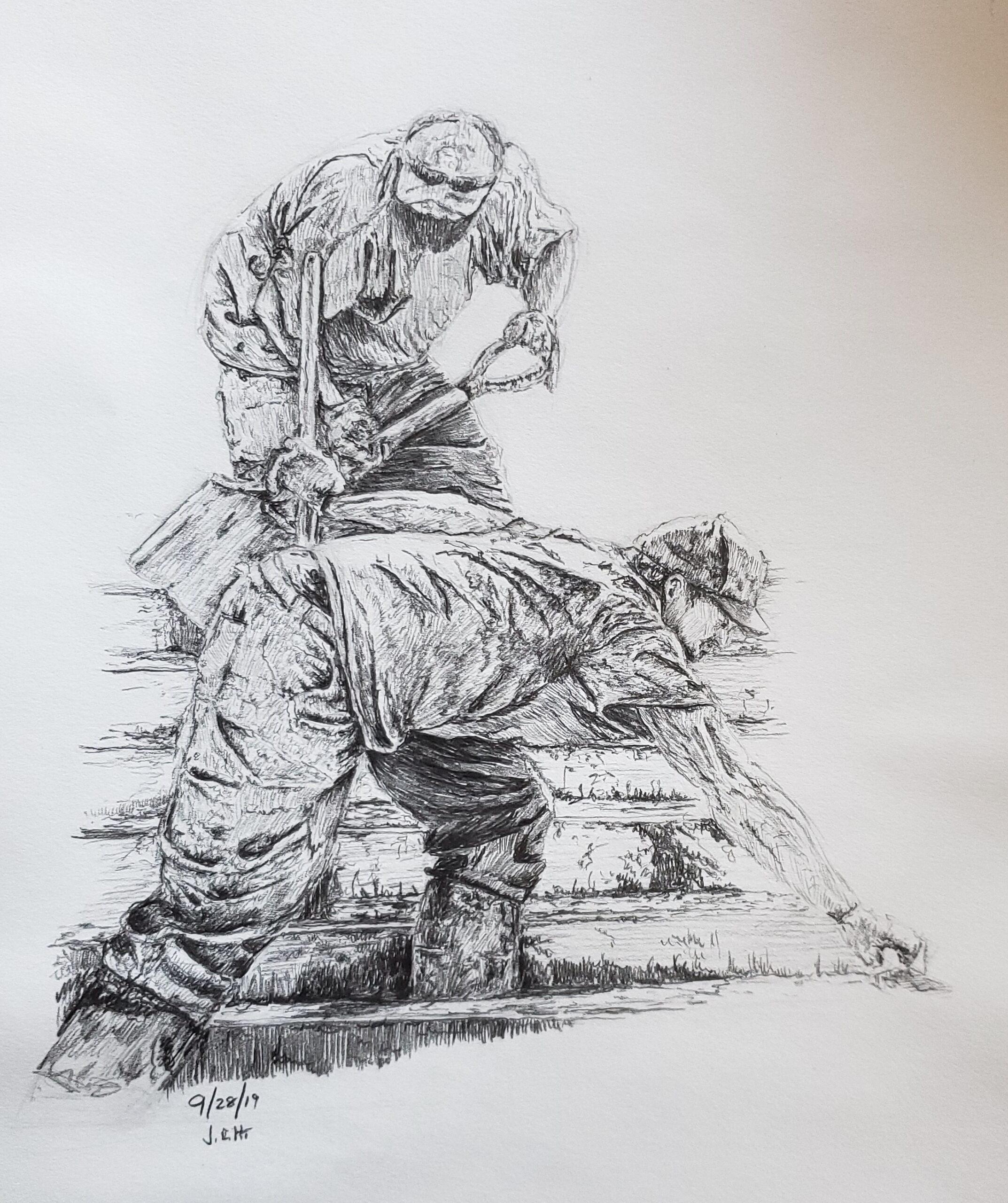 Pencil sketch by John Huisman