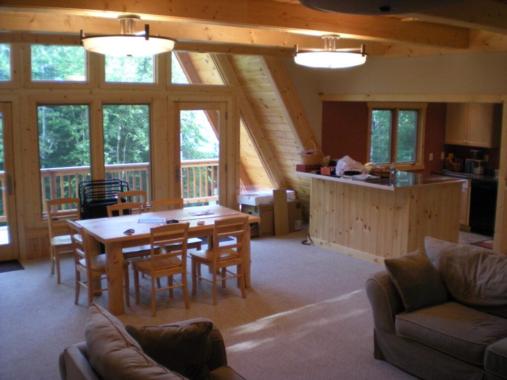 living room kitchen after renovation