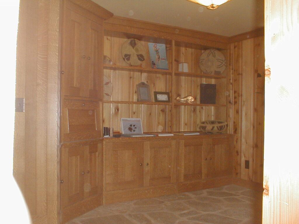 Custom built quarter sawn white oak cabinets