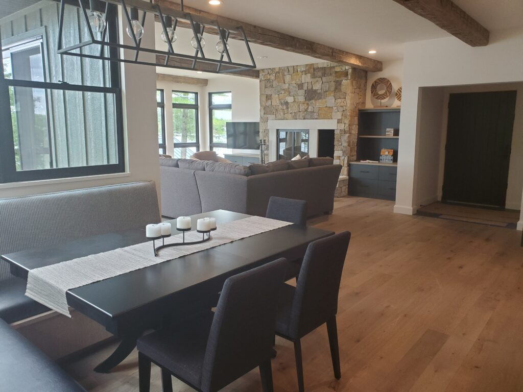 Dining table, living room