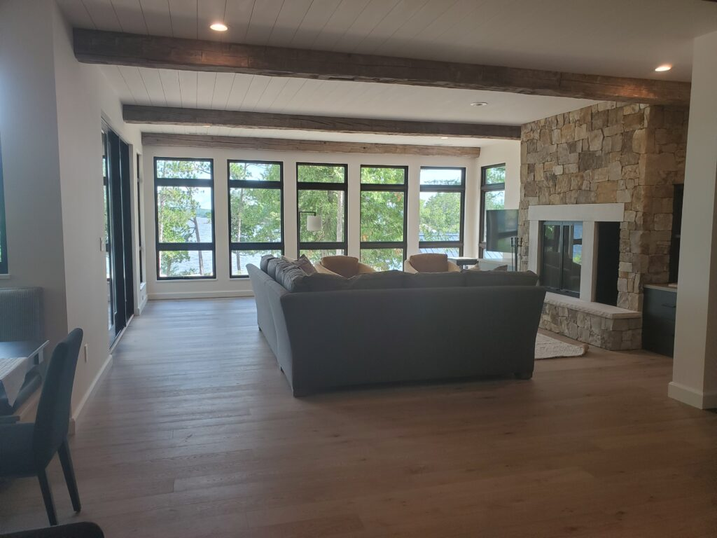 Living room to lake