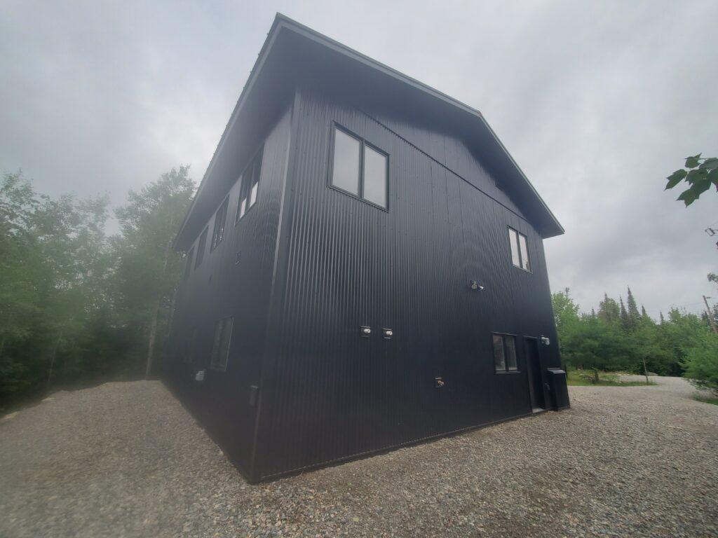 The Barn black 2 story garage (5)