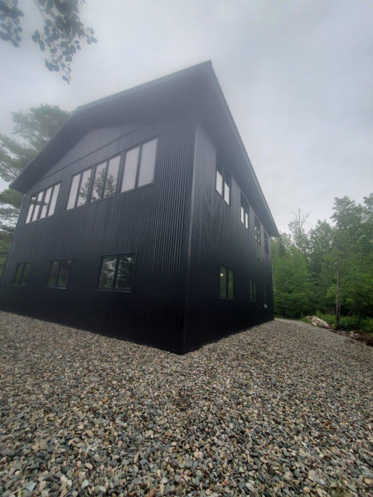 The Barn black 2 story garage (6)
