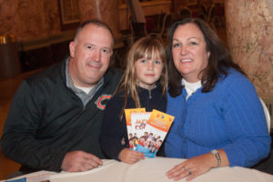 Joliet Police Detective Shawn Filipiak, Will County Juvenile Division Chief Tina Filipiak and their daughter Faith