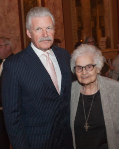 Will County State's Attorney James W. Glasgow and Sister Coletta Hennessy of Presence Saint Joseph Medical Center