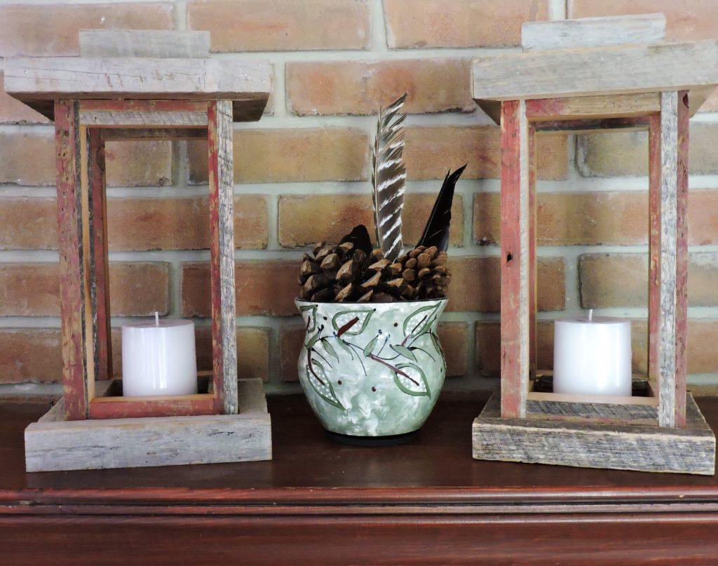 Revival Designs Tulip Poplar and Cedar Candle Lanterns