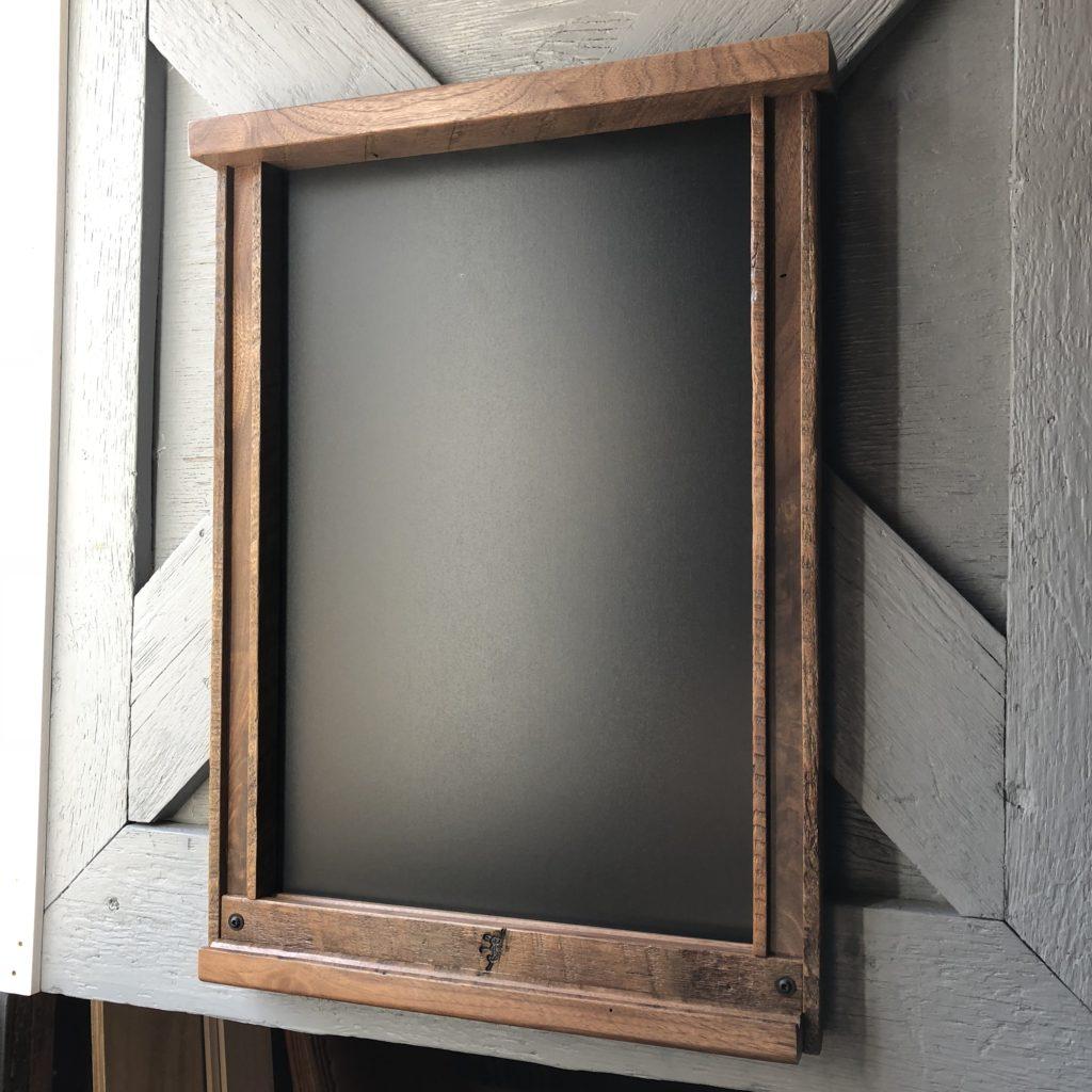 Black Walnut Chalk Board with Dual Cove Ledging