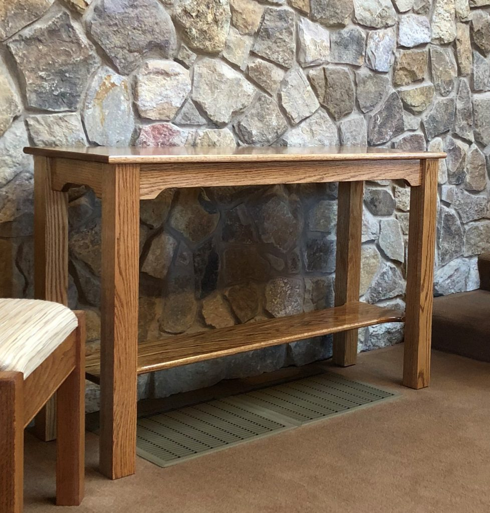 Solid Red Oak Mortise and Tenon Alter Table