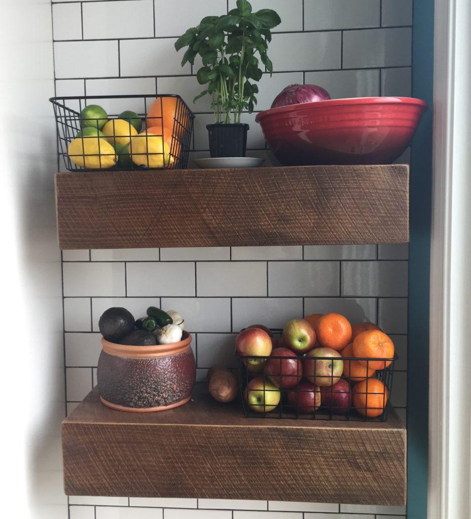 Reclaimed Barn Wood Floating Shelves