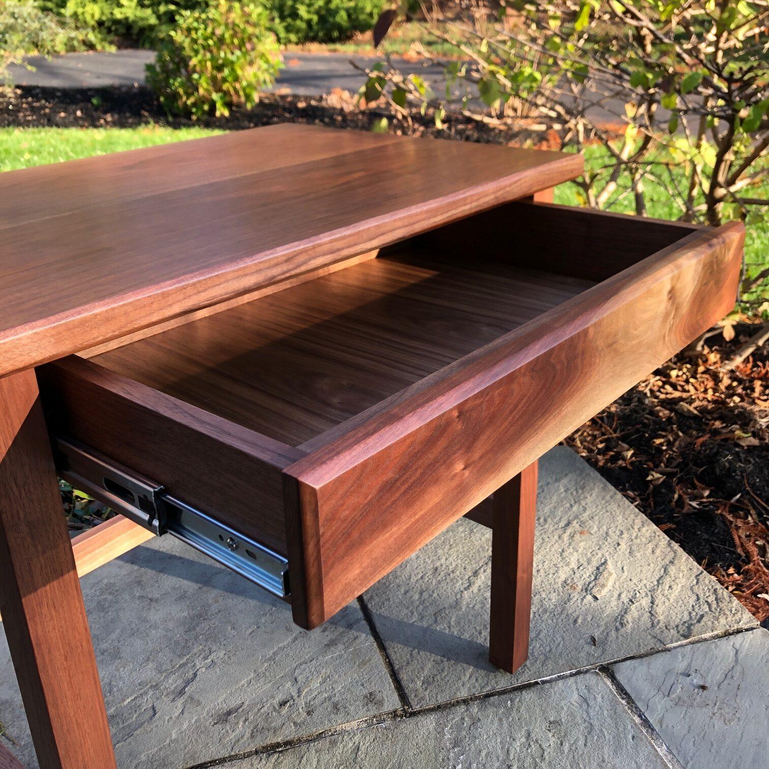 Black walnut writing desk