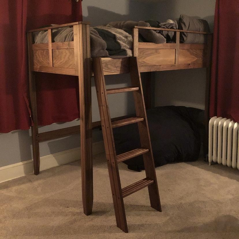 Custom Walnut Loft Bed