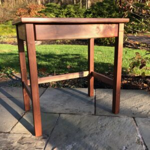 Writing desk with soft close drawer