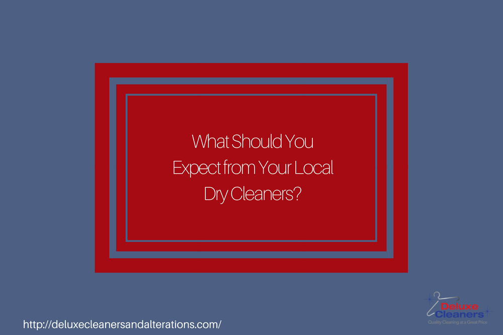 What Should You Expect from Your Local Dry Cleaners?