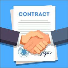 handshake over contract icon