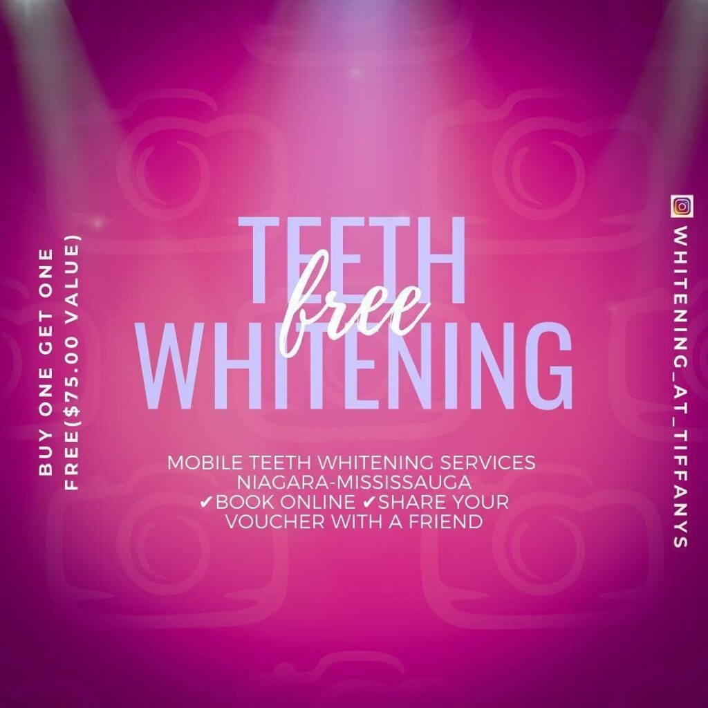 Teeth whitening buy one get one and training sale
