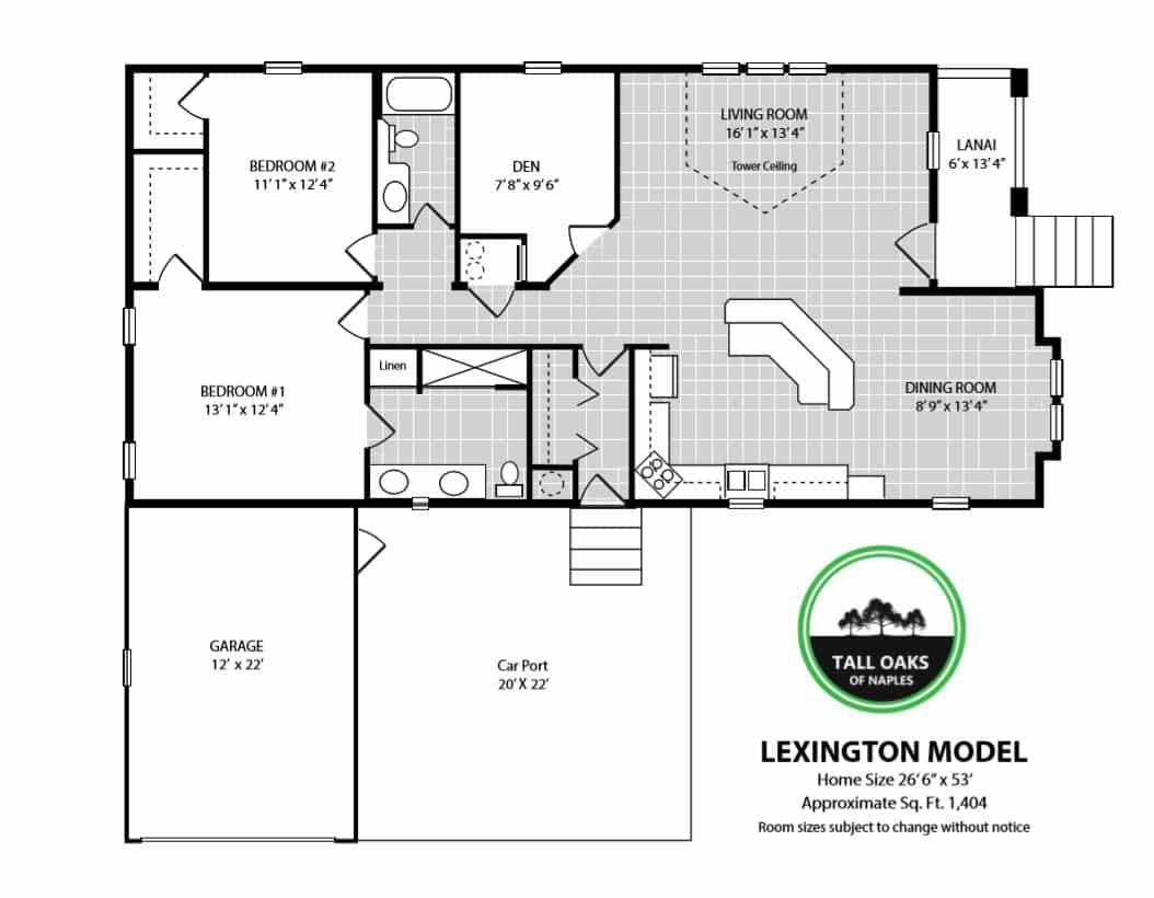 Naples, Florida 34113, 2 Bedrooms Bedrooms, ,2 BathroomsBathrooms,Manufactured Home,Floor Plan,1011