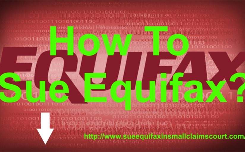 How to sue Equifax?