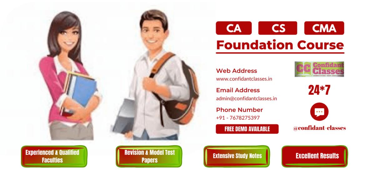 Confidant-Classes-CA-CS-CMA-Foundation-Courses