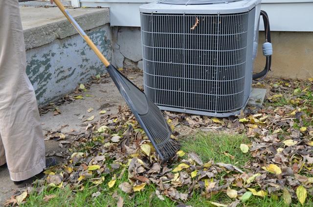 outside HVAC unit