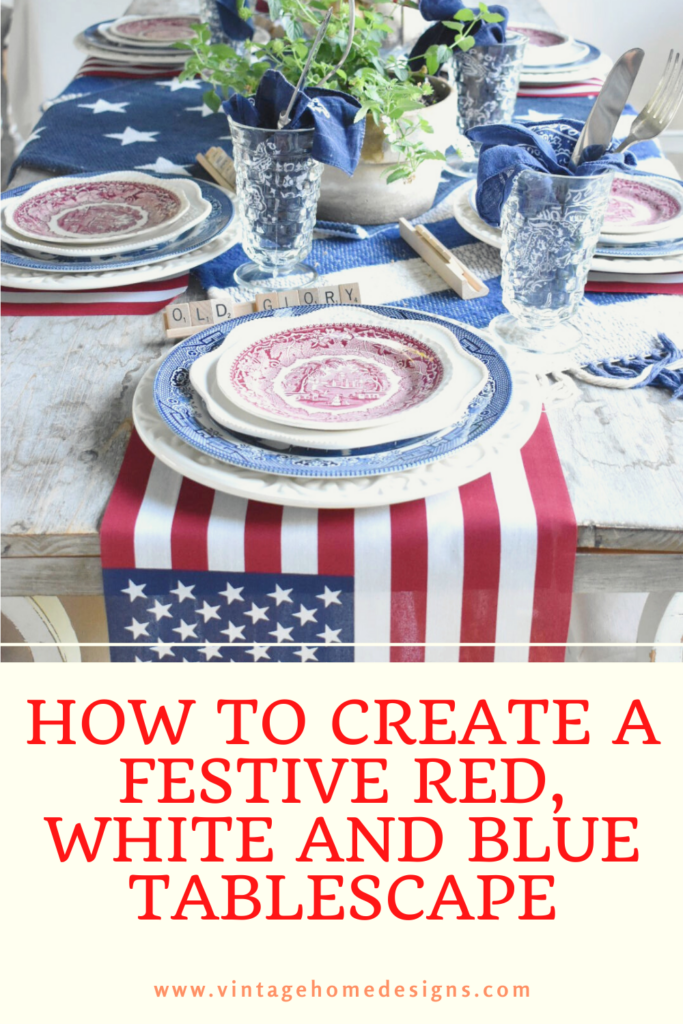 How to Create a red white and blue tablescape on a budges