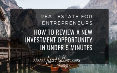 How To Review A New Investment Opportunity In Under 5 Minutes