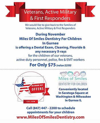 Veteran, Active Military & First Responder Families Are Entitled to A Preventive Services Dental Coupon