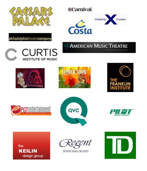 Logo Sheet of client logos