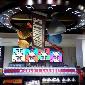 Oversize Chocolate Replicas, Hershey Store - Times Square Location
