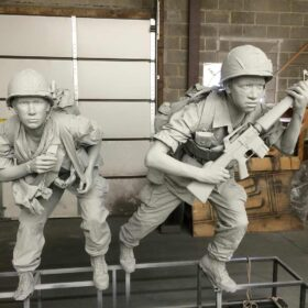 The Richard Nixon Presidential Museum and Library - Soldiers and Platform