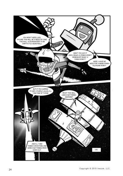 Ethel the Cyborg Ninja 2 Page 24 Sample