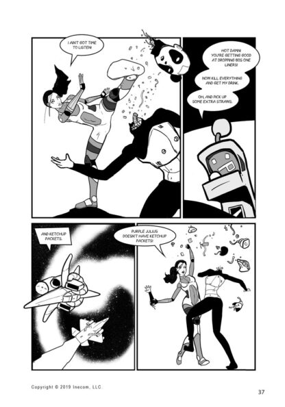 Ethel the Cyborg Ninja 2 Page 37 Sample