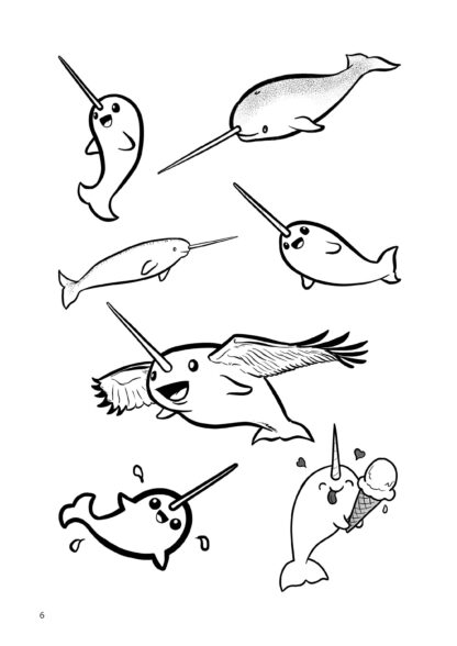 How To Draw Narwhals By Mark Bussler image 2