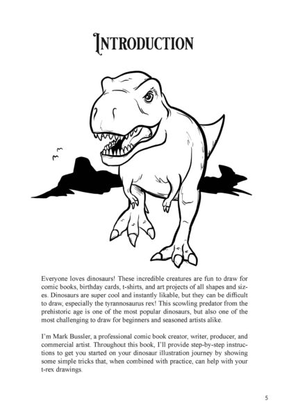 How To Draw Dinosaurs By Mark Bussler: Tyrannosaurus Rex image 1