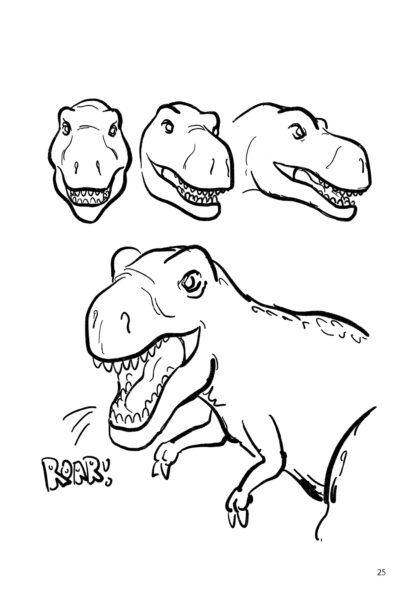How To Draw Dinosaurs By Mark Bussler: Tyrannosaurus Rex image 5