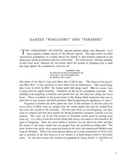 Dante's Purgatory and Paradise Image 4