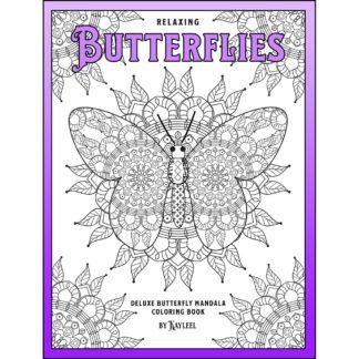 Relaxing Butterflies: Deluxe Butterfly Mandala Coloring Book