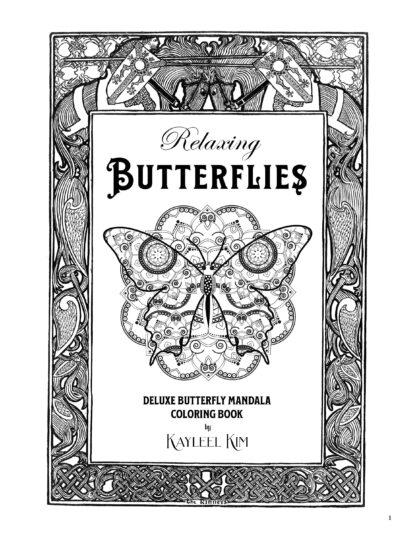 Relaxing Butterflies: Butterfly Mandala Coloring Book image 1