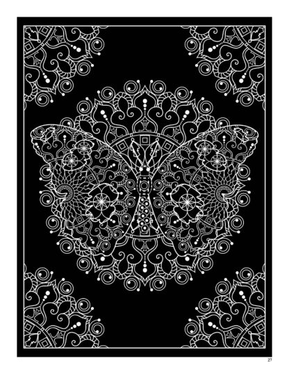 Relaxing Butterflies: Butterfly Mandala Coloring Book image 4