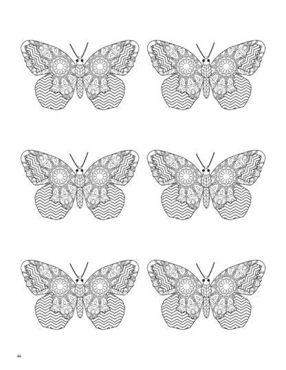 Relaxing Butterflies: Butterfly Mandala Coloring Book image 5