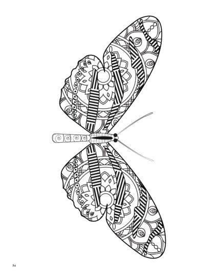 Relaxing Butterflies: Butterfly Mandala Coloring Book image 6